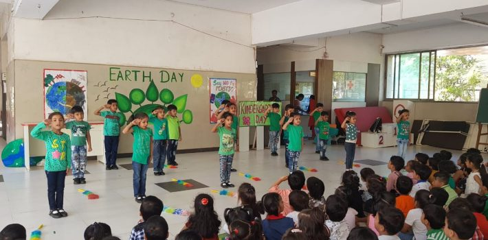 Celebration of Kindergarten Day and Skit on Earth Day