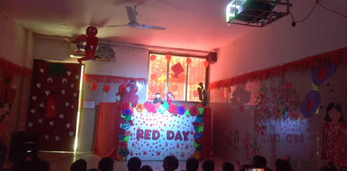 Red day was celebrated by Nursery students on 25th April 2019.