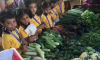Jr KG field trip to Vegetable market