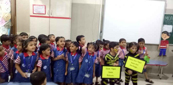 International Tiger Day-rally by Pre-primary students